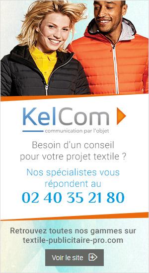 Textiles personnalisés pour les professionnels distribués par Kelcom
